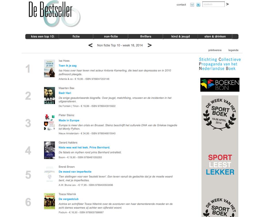 bestseller - DE VERGEETCLUB