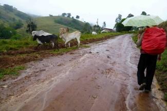 caminho da fe, rain