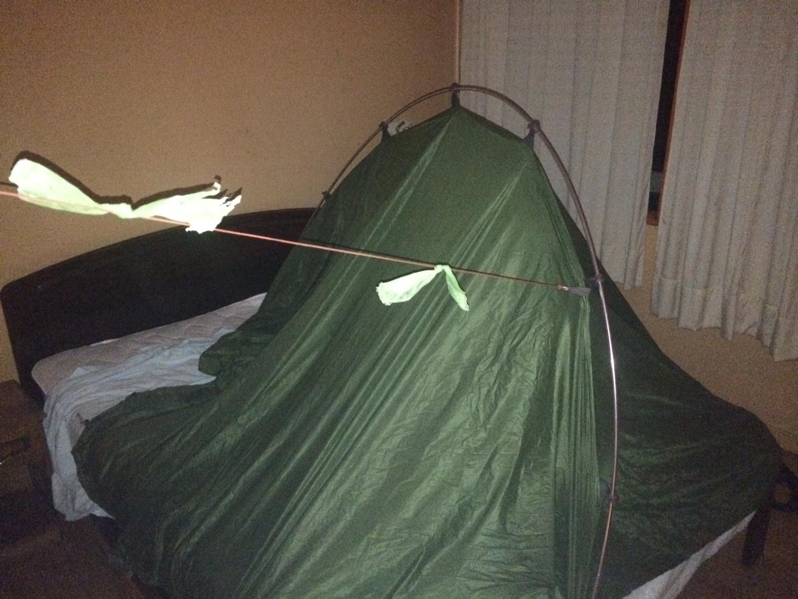 tent op bed ©anitajanssen  Queule - Chili ©anitajanssen